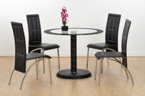 Cameo 4 Seater Glass – Black