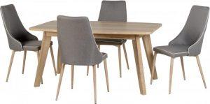 Finley 4 Seater Oak – Grey