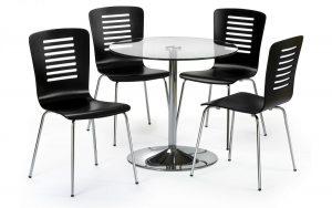 Kudos 4 Seater Glass – Black