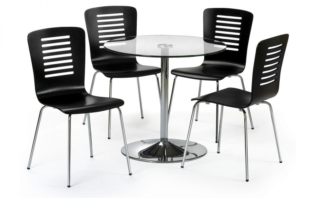 Kudos 4 Seater Glass - Black