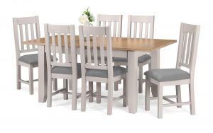 Richmond 6 seater – Grey / Solid Oak