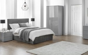 Shoreditch lift up Storage Bed – Slate Velvet