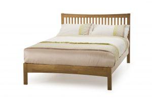 Mya Wooden Bed - Honey Oak