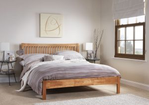 Mya Wooden Bed – Honey Oak