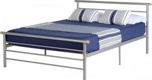 Orion Metal Bed – Silver