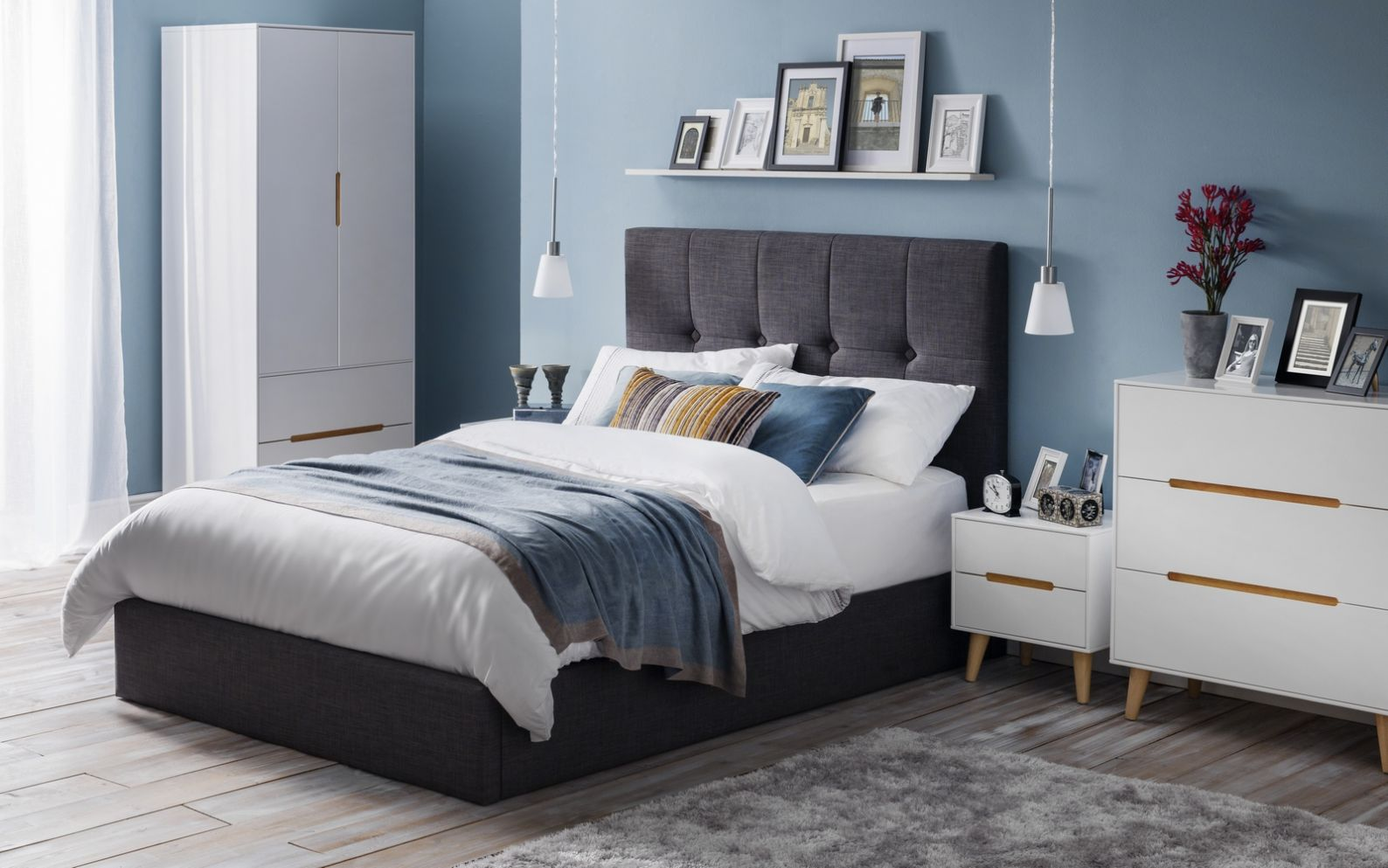 Sorrento Lift-up Storage Bed - Slate