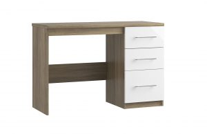 Catania Single Pedestal Desk – Driftwood Oak