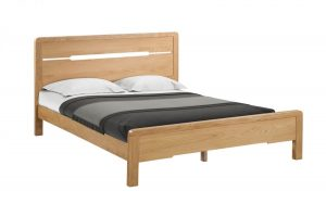 Curve Double Bed – Oak