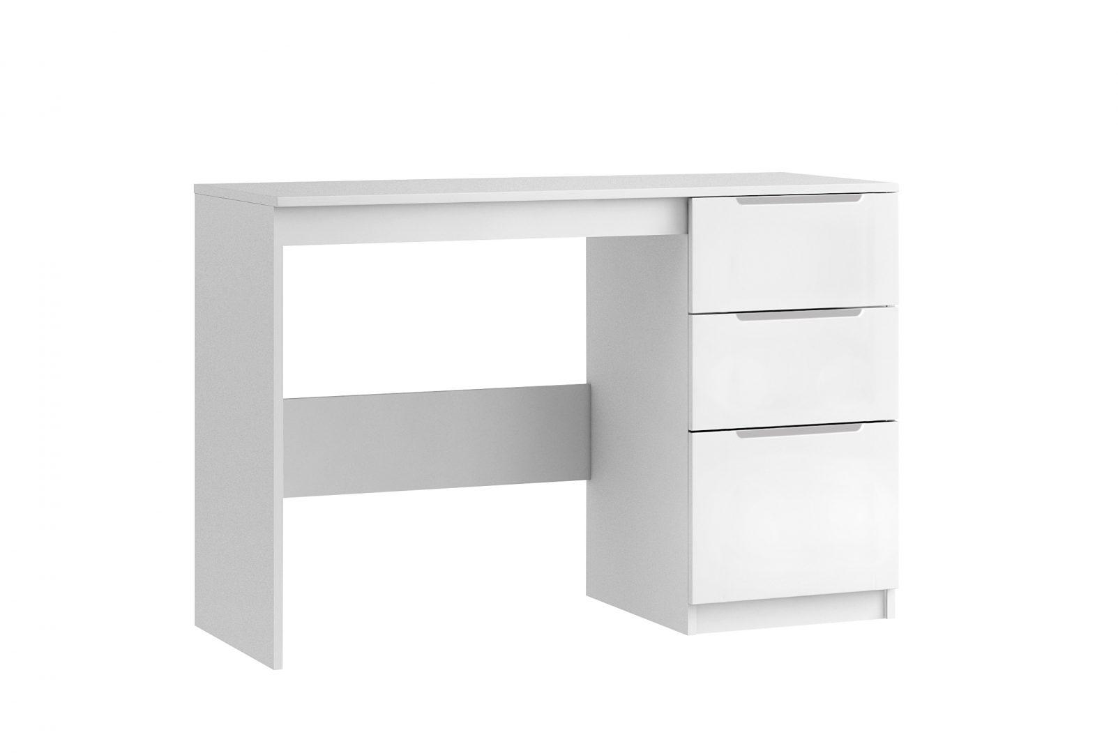 Genoa Single Pedestal Desk - White Gloss