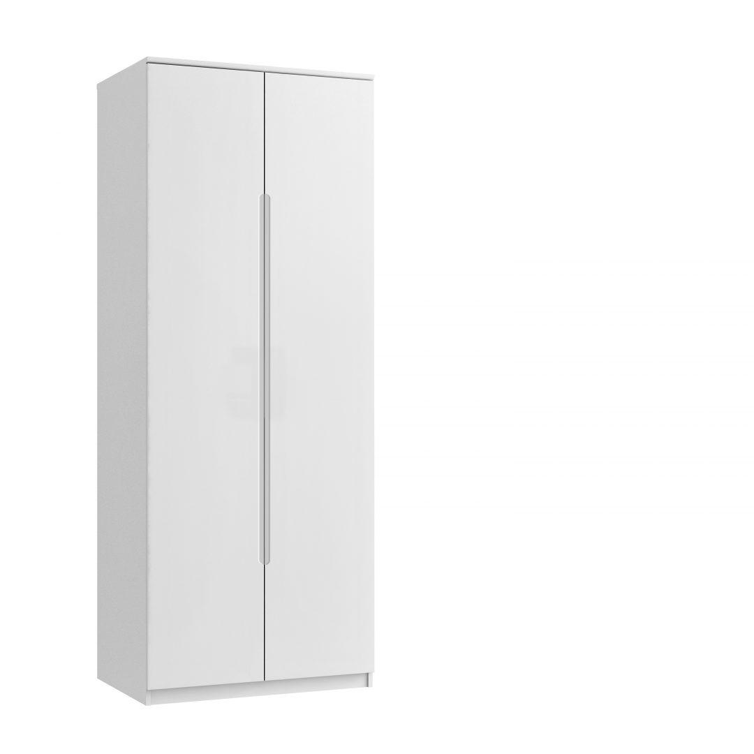 Genoa Tall Double Wardrobe - White Gloss