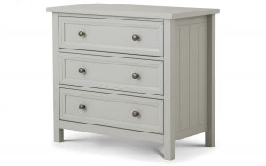 Maine 3 Drawer Chest – Dove Grey