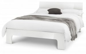 Manhattan Double Bed – White Gloss