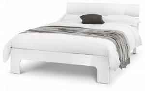 Manhattan Double Bed – White Gloss