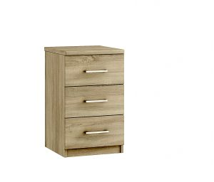 Modena 3 Drawer Bedside – Bardolino Oak
