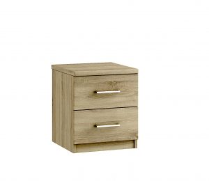 Modena 2 Drawer Bedside – Bardolino Oak