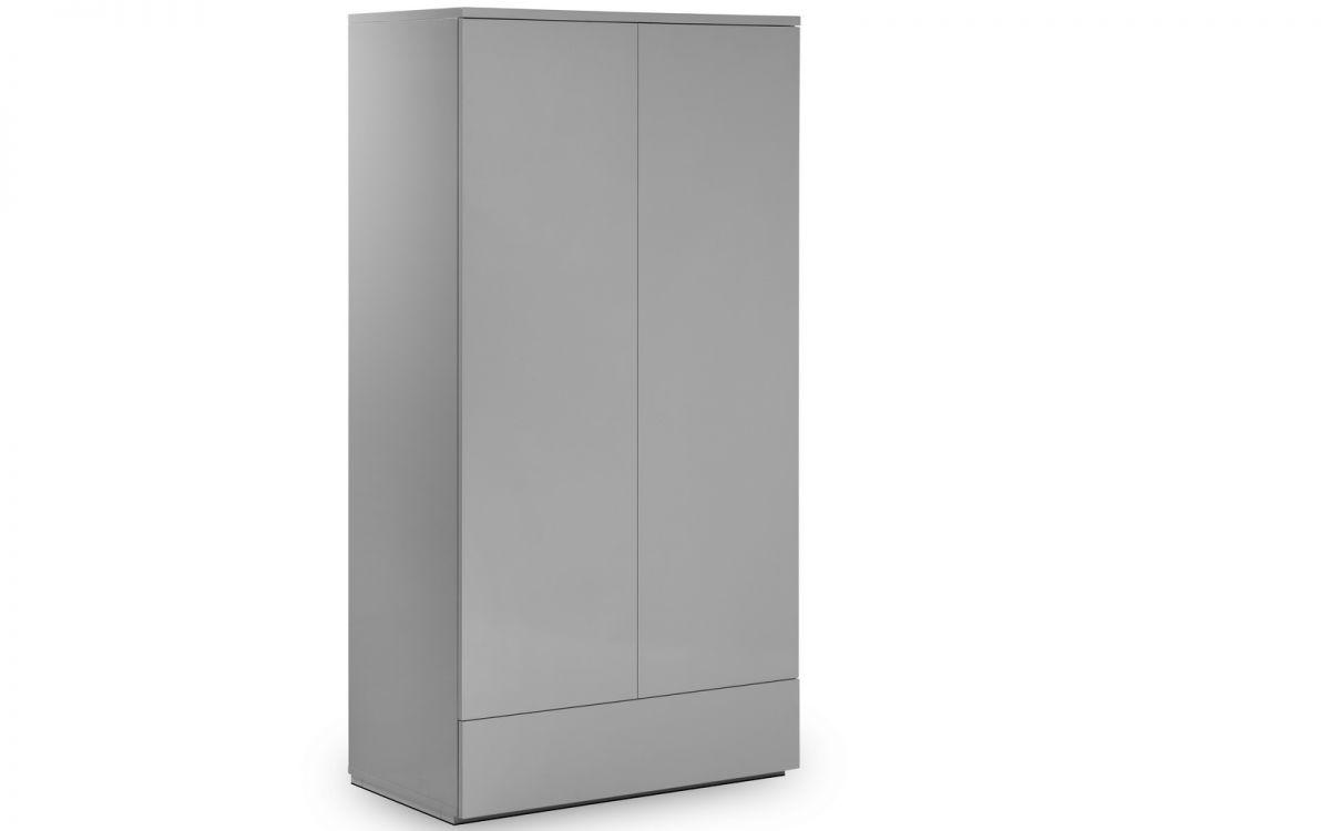 Monaco Wardrobe - Grey Gloss