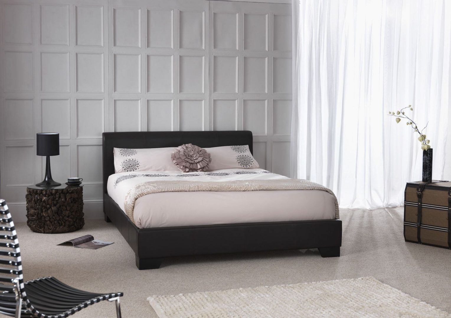 Parma Upholstered Faux Leather Bed