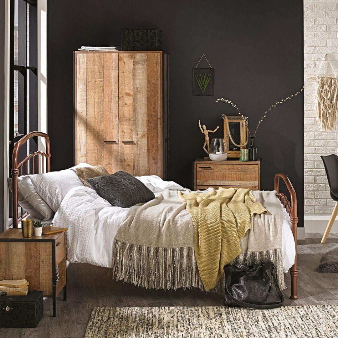 Halston Industrial Chic Metal Bed