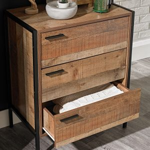 Hoxton 3 Draw Chest – Distressed Oak Effect
