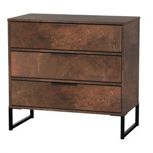 Diego 3 Drawer Chest – Copper – Black Under Frame