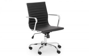 Gio Office Chair – Black – Faux Leather