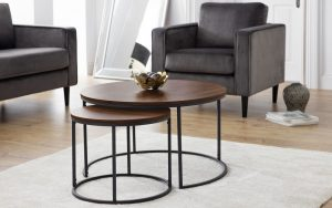 Bellini Round Nesting Coffee Table – Walnut Effect