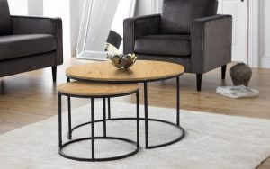 Bellini Round Nesting Coffee Table – Oak Effect