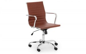 Gio Office Chair – Brown – Faux Leather