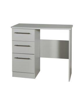 Sherwood 3 Drawer Desk – Matt Grey